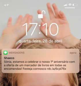 ler sms no ecra sem abrir
